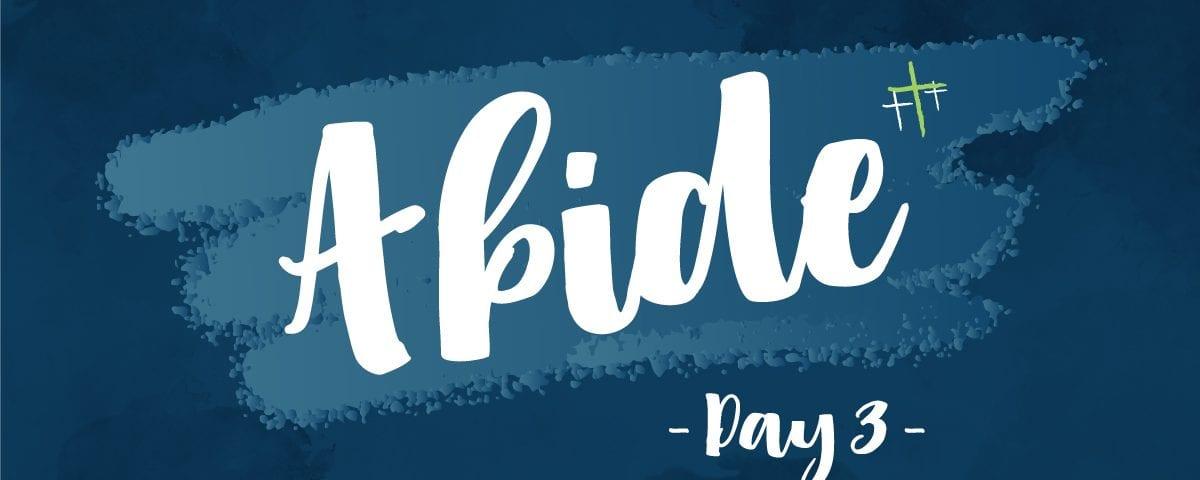 Day 3 - Abide