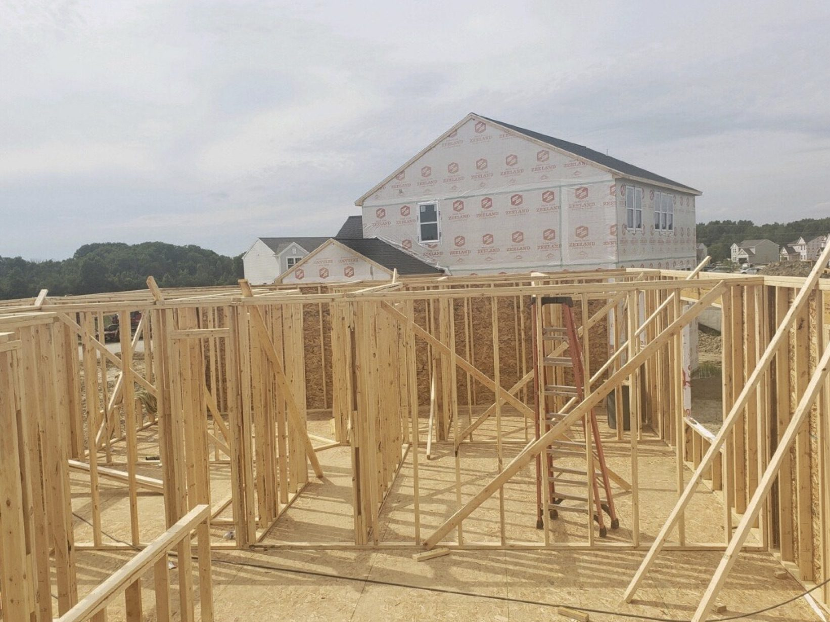 Main floor going up, July 21